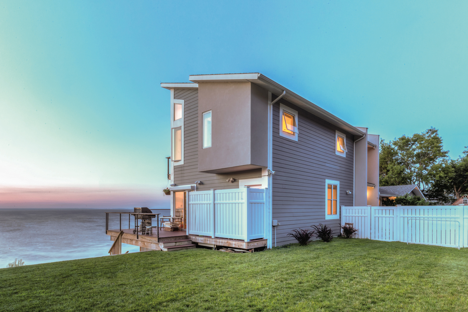 Sound Beach House Exterior Sunset.jpg