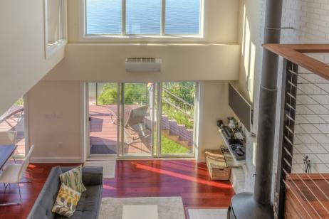 Sound Beach House Living Room Above