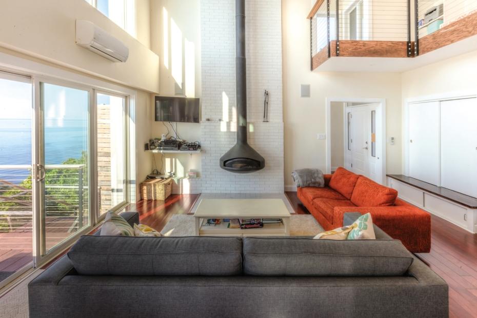 Sound Beach House Living Room