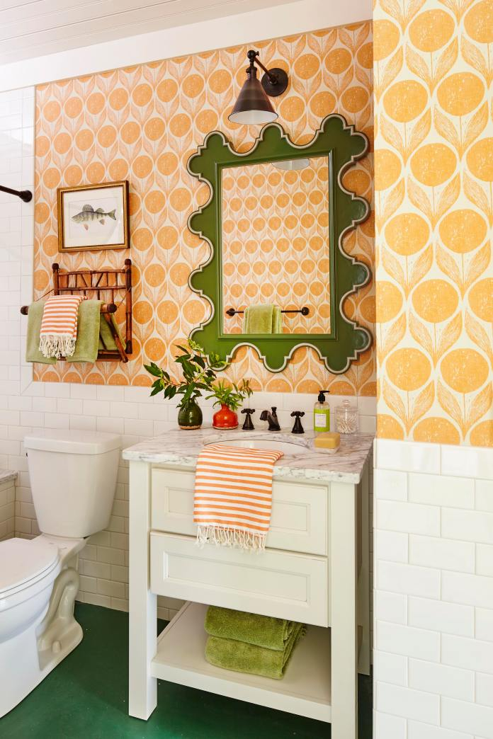 upstairs orange bath overall