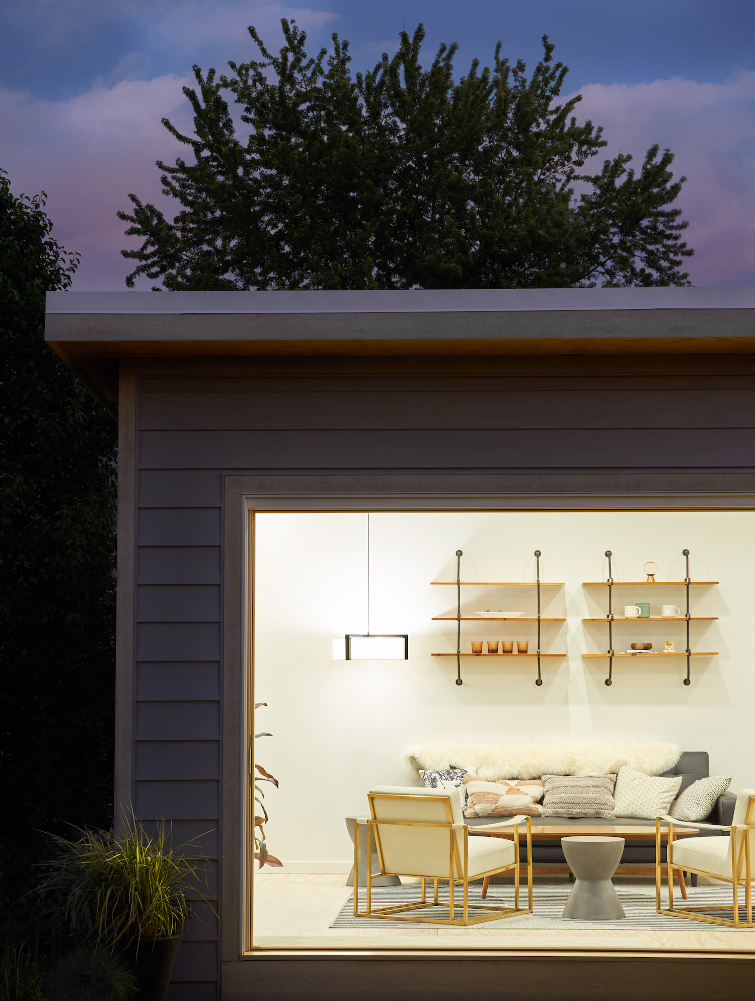 Marvin Bi Fold Doors at Night