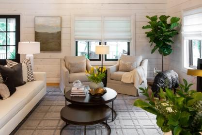 Property Brothers Living Room Black Windows and Door Episode 515